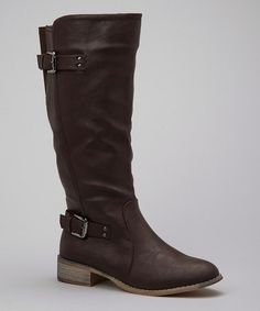 Take a look at this Brown Buckle Olympia Boot by Nature Breeze on #zulily today!