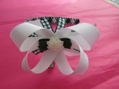Boutique bow school gingham alice band