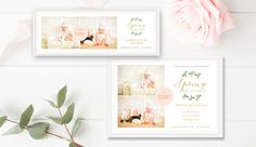Spring Mini Session Marketing Bundle - Spring Marketing Board - Photoshop Template - Photographer Templates
