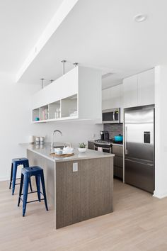 Add a splash of color to your Kitchen decor!    Interior Inspiration   We'll be working with the fab team over @rosenyc again! Not only will we be creating the models but we will be #designing spaces too for 7 West 21st St in #Manhattan - watch THIS space   @meandgeneral