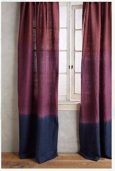 Tie dye que Custom teint rideaux-Bordeaux / noir combinaison