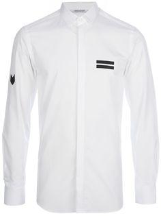 NEIL BARRETT - panelled button down shirt 6
