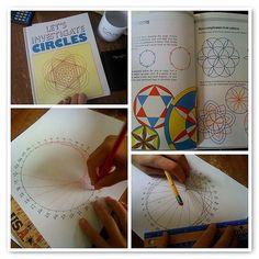 Math monday: compass art age geometry i math classroom, Montessori Math, Homeschool Math, Homeschooling, Math Art, Fun Math, Maths, Math Resources, Math Activities, Area Circulo