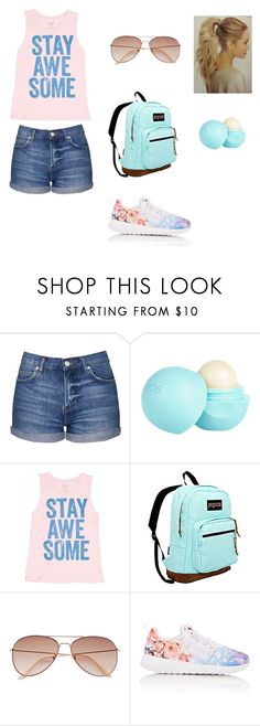 """""""last day of school"""" by gabby6505 ❤ liked on Polyvore featuring Topshop, River Island, Billabong, JanSport, H&M and NIKE"""