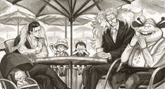 One Piece, Donquixote Doflamingo,Buffalo, Baby 5, Law, Sir Crocodile, Dellinger