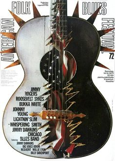 American Folk Blues Festival - Concert Of 1972 - Poster Plakat Konzertposter