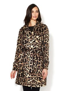 Leopard Cotton Trench Coat by Pink Tartan on Gilt.com