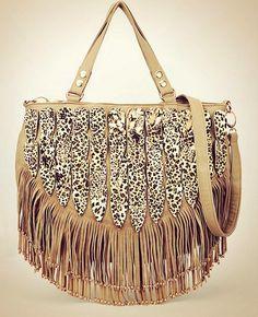 Vintage Leopard Tassel Bag