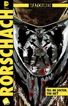 Les comparto un fan art de Rorschach personaje del espectacular comic the watchmen