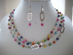 Turquoise Soft Pink Red Yellow Green Orange by DesignsbyPattiLynn, $60.00