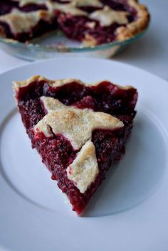 The Perfect Pie Crust and Raspberry Pie with Twice-Baked Crust (via Melissa Clark)   Pie Month - Home - the peche