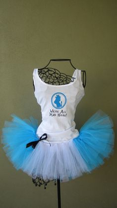 Running Tutu: Disney Princess Inspired Alice and Wonderland Inspired Custom Racing Tank and Pixie Length (9 inch) Tutu. $50.00, via Etsy.