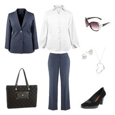The white shirt with a suits for work.