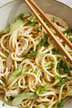 NYT Cooking: It doesn't surprise me how often people order cold noodles with sesame sauce at Chinese restaurants. What is surprising, though, is how few people make the dish at home. It is incredibly (Sesame Noodle Recipes) Chicken Cucumber Recipe, Cucumber Recipes, Chicken Recipes, Cold Sesame Noodles, Cold Noodles, Asian Noodles, Asian Recipes, Ethnic Recipes, Chinese Recipes