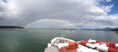 I captured a double full rainbow on a boat trip from Priem to HerrenInsel