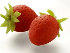 How To Make Marzipan Strawberry #Marzipan #Strawberry