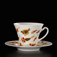 Two hand-painted cups Kashubian Gold Gift