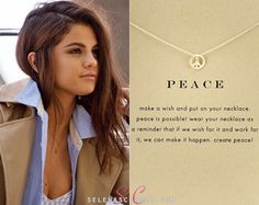 In the past we've seen Selena Gomez rocking pieces of Dogeared jewelry, and her Teen Vogue photoshoot was no exception! In this shot s...