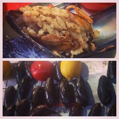 instanbulEatsTour:Beyoglu: on street, mussels stuffed w rice, currants, spices.