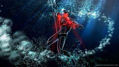 based on the Injustice 2 version Black Manta Deadshot, Deathstroke, The Fisher King, Ocean Master, Black Manta, Black Bolt, Aquaman, Art Sketches, Comic Art