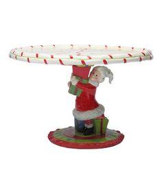 Look what I found on #zulily! Mrs. Claus Cake Stand #zulilyfinds