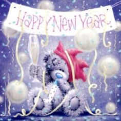 pieces jigsaw puzzle) Happy New Year to everyone. Happy New Year Gif, Happy New Year Pictures, Happy New Years Eve, New Year Images, Holiday Pictures, Tatty Teddy, Happy Greetings, Urso Bear, Happ New Year