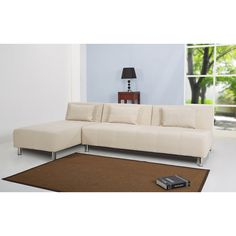 The multi-functional sectional sofa bed offers a contemporary design that adds comfort and style to your home. This sleek sofa bed features extra thick layers of cushioning and is upholstered in a durable premium fabric.