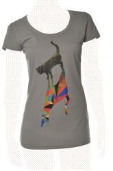 Walking Shadows - Women, opal von PETA T-Shirt - Organic & Fair Wear kaufen bei PETA SHOP (People for the Ethical Treatment of Animals)