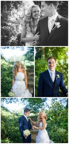 Great wedding photographs of the newly married couple.