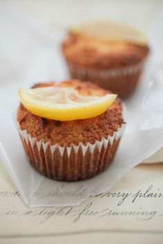 Lemon Yoghurt Cupcakes - The Healthy Chef - Teresa Cutter Healthy Cupcake Recipes, Healthy Cupcakes, Sugar Free Recipes, Almond Recipes, Sweet Recipes, Real Food Recipes, Yummy Food, Lemon Cupcakes, Yummy Cupcakes