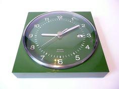 Green Krups Wall Clock