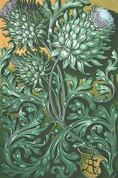 Artichoke print by Anton Seder, 1890 Botanical Art, Botanical Illustration, Illustration Art, Art Nouveau, William Morris Art, Pop Art Wallpaper, Decoupage Art, Arts And Crafts Movement, Textile Prints