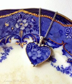 Dishfunctional Designs: Antique Flow Blue Jewelry