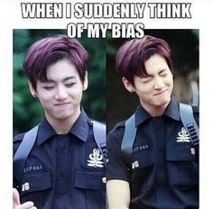 Quand tu penses soudainement à ton bias !