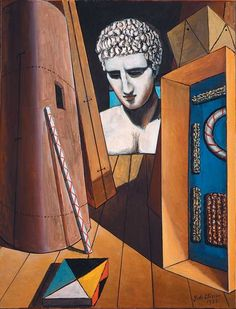Giorgio de Chirico, Hermes' Meditation, 1936. Oil on canvas, 65 X 50 cm.