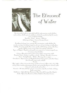 The Element of Water - This is so eerily accurate. I feel like I shouldn't have been born in May because the Earth element definitely doesn't fit. ={