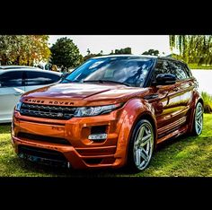 Range Rover Evoque---AND it's Longhorn orange!!!