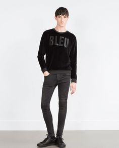 ZARA - MAN - TEXT SWEATSHIRT
