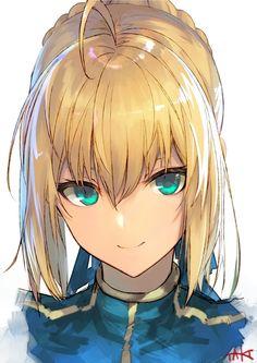 Saber [Fate/Stay Night] by たき Fan Art Anime, Anime Art Girl, Manga Art, Anime Girls, Wallpaper Animes, Animes Wallpapers, Hd Wallpaper, Fate Zero, Fille Blonde Anime