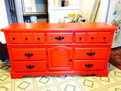 Red and black chalk painted