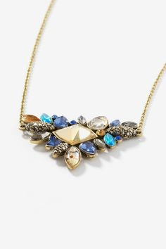 Multi Stone Necklace by Noir Luxe at Le Tote