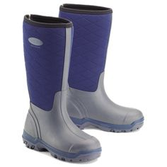 Grubs Iceline 8.5 Wellington Boots in Blue features shock absorbing HEXZORB technology.