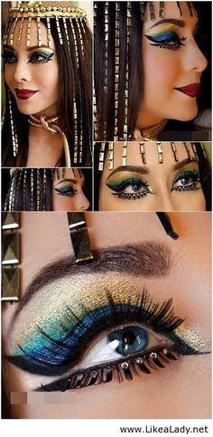 perfect makeup! #cleopatra #egyptian #halloween