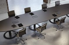 Multipliceo modular conference table - Designer Conference tables / systems by Fantoni ✓ Comprehensive product & design information ✓ Catalogs ➜ Get inspired now Conference Room Design, Conference Table, Table Furniture, Office Furniture, Modern Office Design, Meeting Table, Office Interiors, Interior Design, Ceo Office