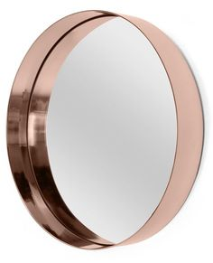 Alana Round Mirror, Copper Catch a glimpse of that rosy glow in the mirror. Copper is right on trend. Copper Mirror, Copper Bathroom, Mirror Inspiration, Gold Rooms, Downstairs Bathroom, Bathroom Mirrors, Bathrooms, Magic Mirror, Round Mirrors
