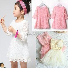 Kinder Kleidung Mädchen Spitze Prinzessin Kleider Kid Baby-Kleidung 2-8 Jahre za