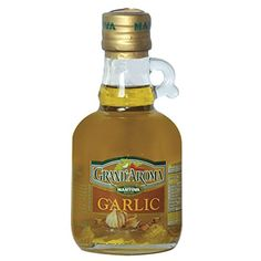 Grand'aroma Garlic Extra Virgin Olive Oil, 8.5-Ounce Bottles (Pack of 3) *** New offers awaiting you  : baking desserts recipes