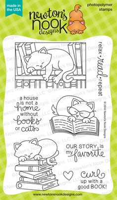 Newton's Book Club Stamp Set by Newton's Nook Designs $14.99 #newtonsnook http://www.newtonsnookdesigns.com/newtons-book-club/