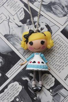 Nice Idea: Lalaloopsy Doll Necklace     #doll #lalaloopsy #handmade