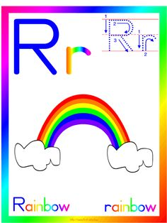 RAINBOW THEME printable activities and crafts suitable for preschool and Kindergarten.